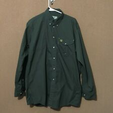 BERETTA Men's Vented Hunting Shirt Padded Right Shoulder Size M Green