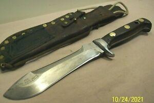 1966~PUMA~GERMANY~WHITE HUNTER~6399~VINTAGE HUNTING KNIFE w/ORIG. LEATHER SHEATH
