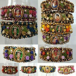 Brazalete de Frida k Mexicano  lote de 12 Joyeria Artesanal Méxicana