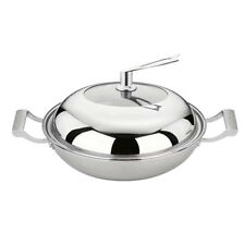 Double Handle Cooking Frying Couldron Pan with Lid Cover [ 36cm ]