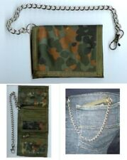 Flecktarn Camouflage Wallet with Security Chain - Purse Mens Army Military New