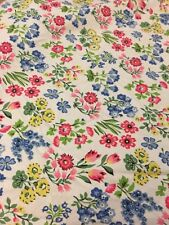 The Vermont Country Store TWIN Country Garden Percale  Floral Fitted Sheet EUC