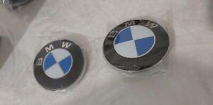 Badge Emblème Insigne logo capot BMW pour AV et AR 82mm et 74mm LOT de 2