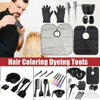 Hair Coloring Dyeing Kit Salon Color Dye Brush Comb Mixing Bowl Tint Tool