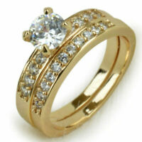 Ring 56 Fingerring Gold gefüllt Kristall Zirkonia Verlobungsring Goldring Damen