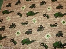 John Deere Fabric Tractor Toss On Rock Wall Cp40338 tractor fabric Bty New