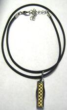 Titanium Germanium Gold Carbon Fiber Pendant Necklace