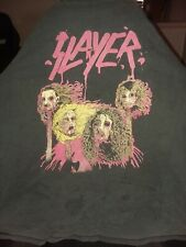 Slayer Dead Skin Mask Rare 1991 Xl Vintage T-Shirt.No tag.wear and tear holes.