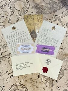 Harry Potter Inspired Personalised Hogwarts Acceptance Letter & Marauders Map