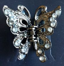 A Pretty Metal Butterfly Claw Clip For Hair With Diamanté  Stones
