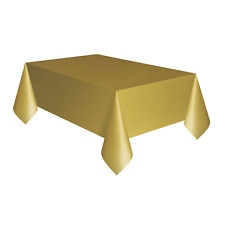 Large Gold Plastic Table Cover 137cm X 274cm Quality Party Tablecloth Amscan