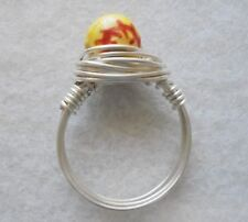 Wire Wrapped Softball Ring SP or GP Permanate Wire SOFTBALL MOM Wire Wrap Ring