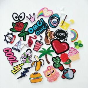 16pcs//lot Quality Cartoon Embroidered Patches Iron On Cute Clothes Appliques for
