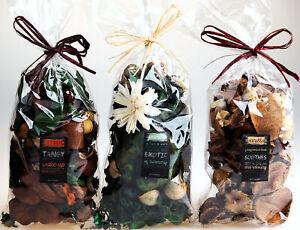 Pot Pourri Fragrance Bags - Tangy Citrus, Exotic Jasmine, Vanilla (Set of 3)