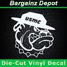 Vinyl Decal.. USMC Mascot Bulldog Marines.. Military Car Truck Laptop Sticker