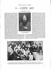 WWI October Revolution Octobre Gregory Rasputine/Raspoutine Russia ILLUSTRATION