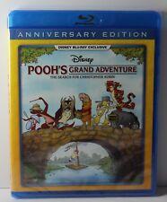 Pooh's Grand Adventure Disney Movie Club Exclusive Blu Ray Pooh NEW