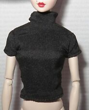 TOP ~ARTICULATED SILKSTONE BARBIE DOLL CLASSIC CAMEL BLACK MOCK TURTLENECK SHIRT