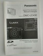 - Panasonic manuel d'emploi DMC-LC43E - Appareil Photo Numérique FR
