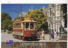 "*New Zealand Postcard-""TramCar Passes by Christ Church"" *Canterbury, NZ (#370)"