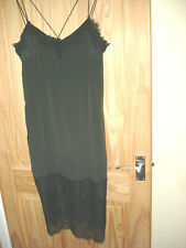 NEW+ tag  very TRENDY from TOP SHOP  OLIVE/GREEN SLIP DRESS  UK 10  sleeveless