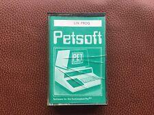 Rare Vintage Pet Lin Prog Software for Commodore Pet Computer Cassette 1978