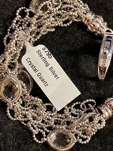 """NWT's $795 LAGOS Venus Crystal Quartz Chain Sterling Silver .925 Bracelet 7.25"""""""