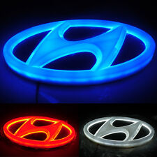4D Car LED Logo Light Auto Badge Front Emblems Lamp For HYUNDAI Elantra ACCENT