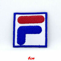 FiLA F Sports Logo Blue Badge Iron on Sew on Embroidered Patch