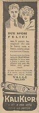 W8122 Pasta dentifricia Kaliklor - Due sposi felici_Pubblicità 1924_Advertising