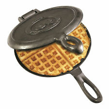 Waffle Maker Cast Iron Pan Stove Camping Outdoor Indoor Kitchen Cooking Campfire