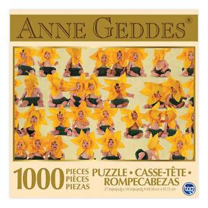 SURE LOX 1000 PIECE PUZZLE ANNE GEDDES SUNFLOWERS  68.58CM X 48.26CM
