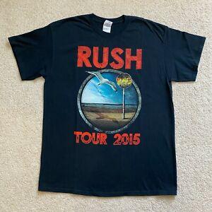 Rush Tour 2015 T Shirt  Sz L Gildan Ultra Cotton