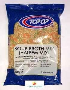 SOUP BROTH MIX - HALEEM MIX - BARLEY, LENTILS, SPLIT PEAS - TOP-OP - 500g