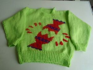 """New Hand Knitted Christmas Sweater 26"""" chest (aprox 4 yrs)"""