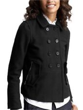 NWT GAP WOMEN SHRUNKEN PEACOAT,BLACK Size: M $118