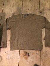 GAP Men's Shetland Wool Pullover Sweater Dark Beige Lt Brown Sz Large Crew Neck
