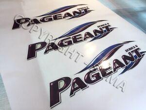 Bailey Pageant CARAVAN sticker single printed vinyl 565mm x 165mm