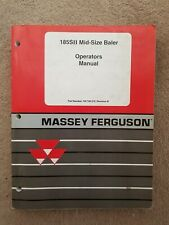 MASSEY FERGUSON 185SII BALER OPERATORS MANUAL