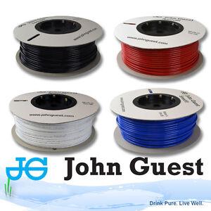 John Guest Tubing LLDPE Water Pipe, Tube JG, Various Sizes, White Blue Black Red