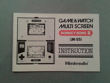 NINTENDO GAME&WATCH MULTISCREEN DONKEY KONG II JR-55 ORIGINAL MANUAL NEAR MINT