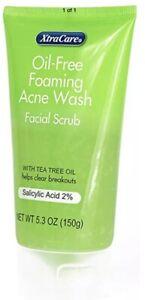 2 X Oil-Free Foaming Acne Wash Facial Scrub Tea Tree & 2% Salicylic Acid 150g