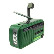 DEGEN DE13 Solar Alarm Clock Radio Power Emergency FM/AM/SW Crank Dynamo Radio