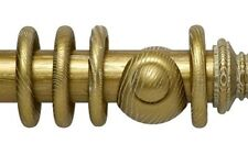 Romantica Wood Wooden Curtain Rings for 50mm Pole Ivory Gold. Pack of 4