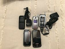 Lot Of 5 Used Cell Phone, Untested For Parts Or Repair, Various Brands
