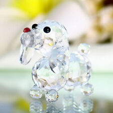 Cute Crystal Glass Dog Puppy Figurines Crafts Table Home Car Decoration Gifts