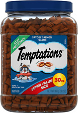 Temptations Classic Crunchy And Soft Cat Treats Savory Salmon Flavor 30 Oz