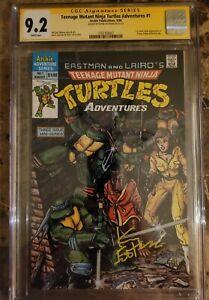 Teenage Mutant Ninja Turtles Adventures #1 CGC 9.2 SS Kevin Eastman 1st...