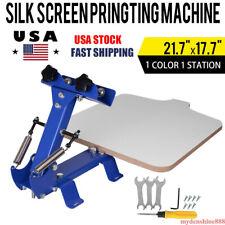 Manual 1 Color 1 Station Silk Screen Printing Machine Press Equipment T Shirt
