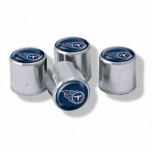 NEW Tennessee Titans Football Chrome Tire Valve Stem Caps w/ Team Colors-4PC